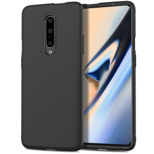 Jazz Series Twill Texture TPU Mobile Phone Case for OnePlus 7 Pro - Black