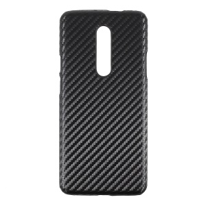 PU Leather Coated Hard PC Mobile Case for OnePlus 7 Pro - Carbon Fiber Texture