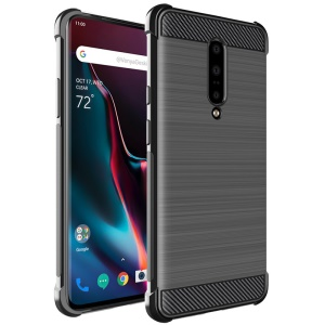 IMAK Vega Air Bag Case Carbon Fiber Brushed TPU Phone Shell for OnePlus 7 Pro