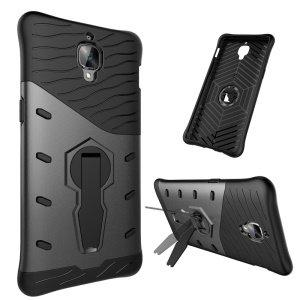 Armor PC + TPU Kickstand Hybrid Case for OnePlus 3T / 3 - Grey