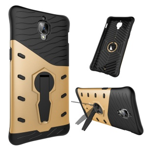 Armor PC + TPU Kickstand Hybrid Shell for OnePlus 3T / 3 - Gold