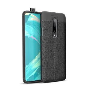 Litchi Texture TPU Case for OnePlus 7 Pro - Black