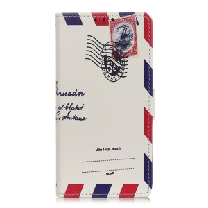 Pattern Printing Leather Wallet Stand Phone Casing for OnePlus 7 - Air Mail