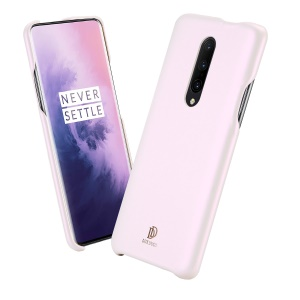 DUX DUCIS Skin Lite Series PU Leather Coated+PC Back Phone Cover for OnePlus 7 Pro - Pink