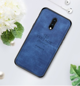 PINWUYO Honorable Serie PC + TPU + Funda De Cuero Para Oneplus 7 - Azul