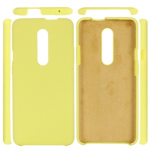 Soft Liquid Silicone Mobile Phone Case for OnePlus 7 Pro - Yellow