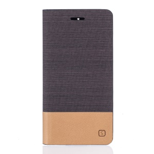 Two-tone Linen Flip Leather Protective Cover for OnePlus 3 / 3T - Coffee