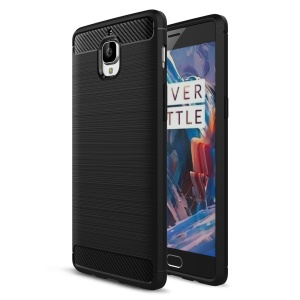 Carbon Fibre Brushed TPU Case for OnePlus 3 / 3T - Black