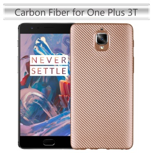 Carbon Fiber Soft TPU Protection Phone Shell for OnePlus 3T / 3 - Gold