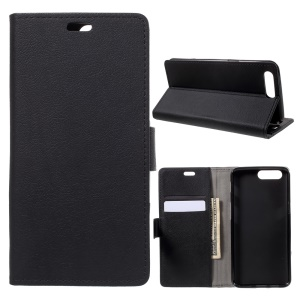 Wallet Leather Case for OnePlus 5 - Black