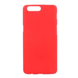 Rubberized PC Hard Cover for OnePlus 5 - Red