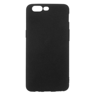 Flexible TPU Matte Anti-fingerprint Phone Case for OnePlus 5 - Black