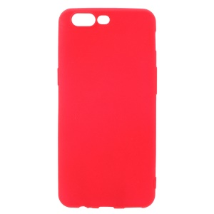 Matte Finish Anti-fingerprint TPU Gel Case for OnePlus 5 - Red