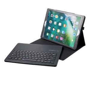 Removeable Bluetooth Keyboard Leather Case for iPad Pro 12.9 inch - Black