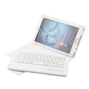 Detachable Leather Bluetooth Keyboard Case with Stand for Huawei MediaPad M3 8.4 - White