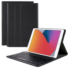 Universal 9.7-inch Bluetooth Keyboard Leather Case for iPad 9.7 (2017)/Pro 9.7/iPad Air 2/Air - Black