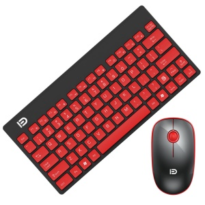 FORTER G1500 Silence Keyboard and Mouse Wireless Combo Set - Red