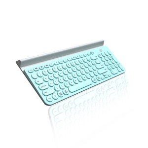 FORTER IK6650 Tri-Channel Mute Waterpooof Wireless Bluetooth Clavier for iOS, Android, Windows etc. - Cyan