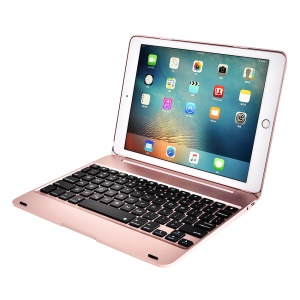 F19B Bluetooth 3.0 Clavier ABS Flip Protection Pour Ipad 9.7 (2017) / Pro 9.7 (2016) / Air / Air 2 - Or Rose