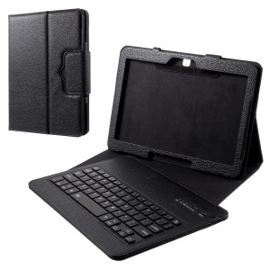 Removable Bluetooth Keyboard Leather Stand Protective Case for Samsung Galaxy Tab 4 10.1 T530 - Black