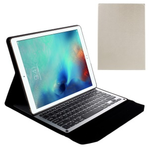Slim Leather Case with Built-in Bluetooth Keyboard for iPad Pro 12.9 inch - White