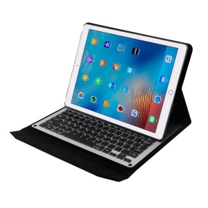 For iPad Pro 12.9 inch Wireless Bluetooth Keyboard Slim Leather Case Stand - Black