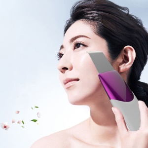Ultrasonic Facial Skin Scrubber Pore Cleaner Anion Skin Peeling Lifting Massager