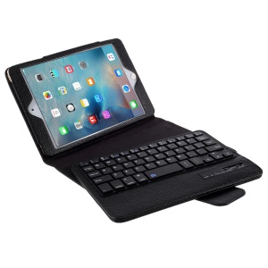 Removeable Bluetooth Keyboard Leather Case for iPad Mini 4/3/2 - Black