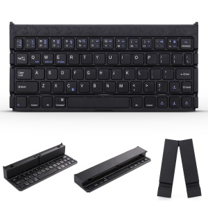Portable QWERTY Bluetooth 3.0 Foldable Keyboard for Windows Android iOS - Black