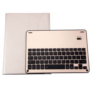 Detachable Bluetooth Keyboard Leather Tablet Case with 7-color Backlight for 9.7 inch iPad / Air 2 / Air - Gold