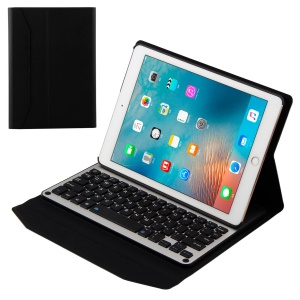 Removable Bluetooth Keyboard Leather Smart Case for iPad 9.7 (2018) / 9.7 (2017) / Pro 9.7 inch (2016) / Air 2 / Air  - Black
