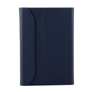 Detachable Bluetooth Keyboard Magnetic Leather Cover Case for iPad mini 4 - Dark Blue