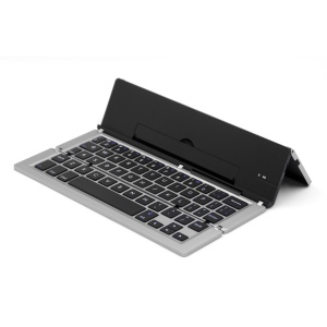 Universal Aluminum Alloy Foldable Bluetooth Keyboard for iPad Pro / iPad Air 2 / iPad mini 4 - Silver