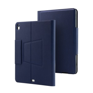 For iPad Pro 11-inch (2018) [Integrated] Bluetooth Keyboard + PU Leather Tablet Flip Shell with Colorful Backlight - Blue
