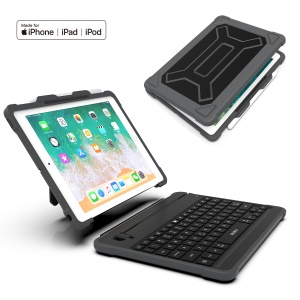 WIWU MFi Certified Shock-absorption Detachable Keyboard PC+TPU Hybrid Protector Case for iPad 9.7 (2018) / 9.7 (2017)