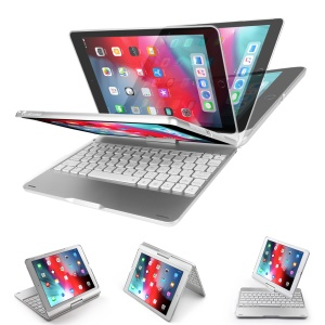 DUX DUCIS Wireless Keyboard Protective Case for Apple iPad 9.7-inch (2018)/9.7-inch (2017)/Pro 9.7 inch (2016)/Air 2/Air (2013) - Silver