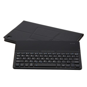 Detachable 2-in-1 Bluetooth Keyboard Leather Stand Cover for Huawei MediaPad M5 10/M5 10 (Pro) - Black