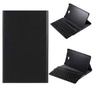 Detachable Bluetooth Keyboard Litchi Texture Leather Stand Case for Samsung Galaxy Tab A 10.1 (2016) / T580/T585 - Black