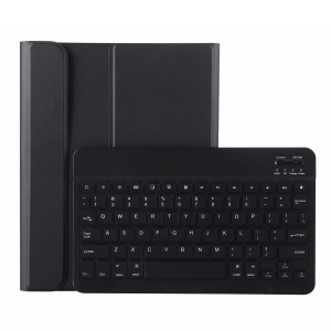 For iPad Pro 11-inch (2018) Detachable Bluetooth Keyboard + PU Leather Case with Pen Slot - Black