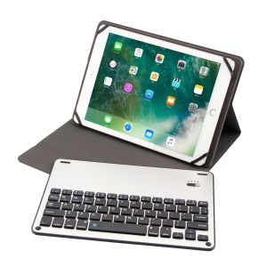 TY-1058 Aluminium Alloy Bluetooth Keyboard Leather Stand Case for iPad mini (2019)/Samsung Galaxy Tab A 10.1 (2019), etc