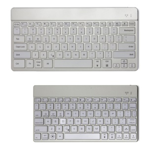F3s+ Universal LED Backlight Bluetooth Keyboard, Support Android iOS Windows - Silver