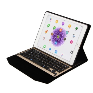 Wireless Bluetooth Keyboard Slim Folio Leather Case for iPad Pro 9.7 inch - Gold