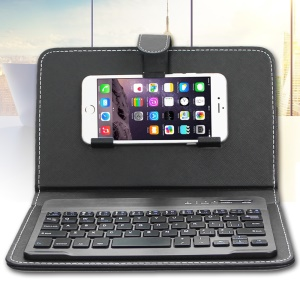 ENKAY Wireless Bluetooth Keyboard Leather Case for iPhone 6s Plus/Samsung S7 Etc
