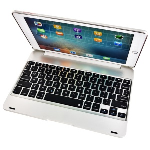 F19 Bluetooth 3.0 Keyboard Protection Cover for iPad Pro 9.7/Air 2 - Silver