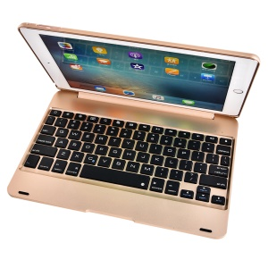For iPad Pro 9.7/Air 2 F19 Bluetooth Keyboard Protection Case Cover - Gold