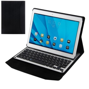 Wireless Bluetooth Keyboard Leather Case for Huawei MediaPad M2 10.0 - Black