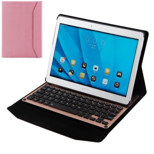 Ultrathin Bluetooth Keyboard Leather Stand Case for Huawei MediaPad M2 10.0 - Pink