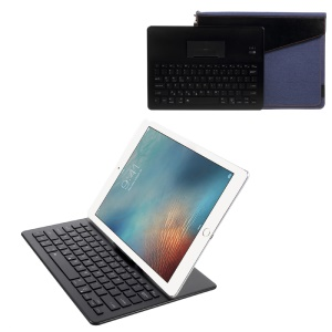 2088 Bluetooth 3.0 Keyboard with Backlit + Protective Pouch Bag Case Kit with LED Indicator - Black / Dark Blue