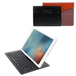 2088 Bluetooth 3.0 Wireless Portable Keyboard + Sleeve Pouch Bag Kit with LED Indicator - Black / Brown
