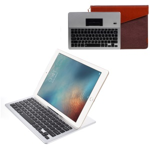 2088 Bluetooth 3.0 Thin Keyboard + Protective Pouch Case Set - Silver / Brown